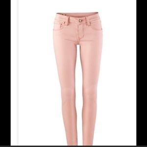 Cabi light pink nectar skinny jeans 6